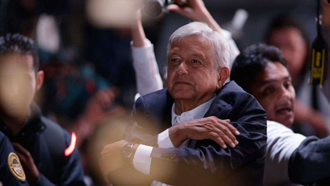 Presidential candidate Andrés Manuel López Obrador has claimed victory in Mexico's election, calling for reconciliation.
