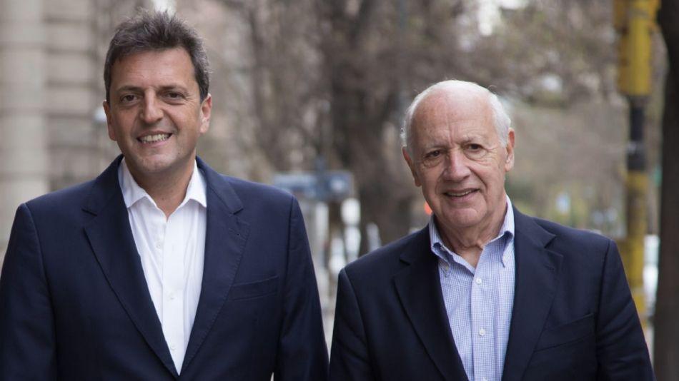 Sergio Massa y Roberto Lavagna