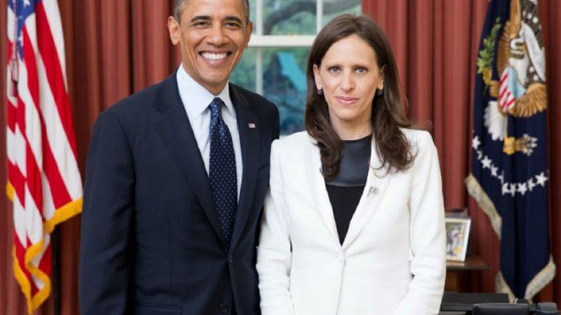 Former US President Barack Obama and former Argentine ambassador to the United States Cecilia Nahón.