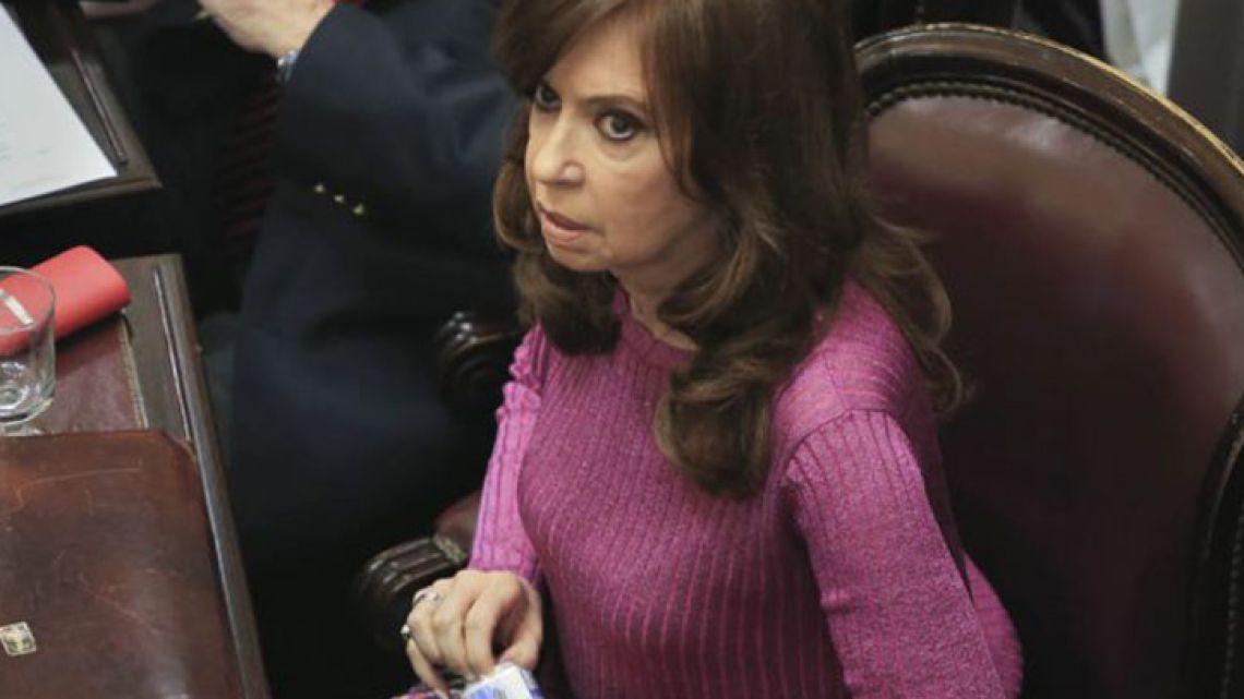 Former president-cum-Senator Cristina Fernández de Kirchner.