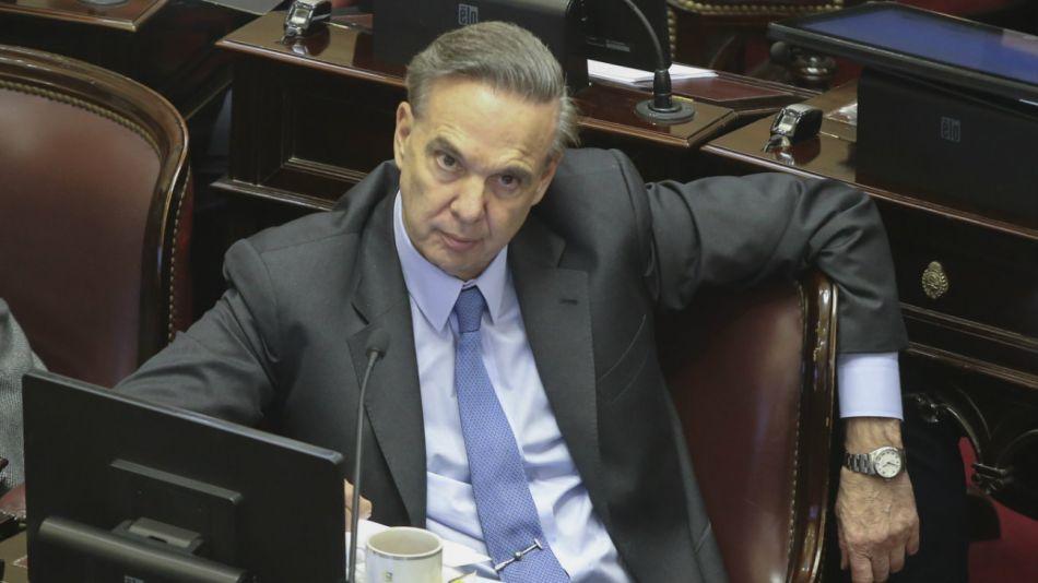 El jefe del Bloque Justicialista del Senado, Miguel Pichetto.