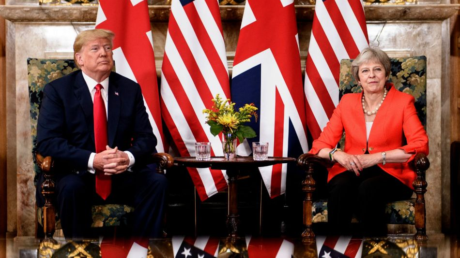 El presidente de EE.UU., Donald Trump, y la primera ministra británica, Theresa May.