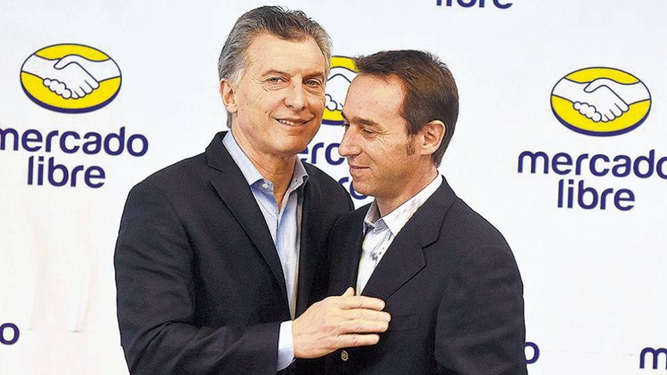 LARGO ALIENTO. Macri es un habitué de los aniversarios de Mercado Libre desde que era jefe de Gobierno. Considera a a Galperin un modelo de emprendedor opuesto al viejo empresariado argentino.
