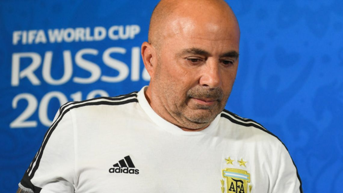 Jorge Sampaoli has agreed to end his time in charge of the Argentine national team.