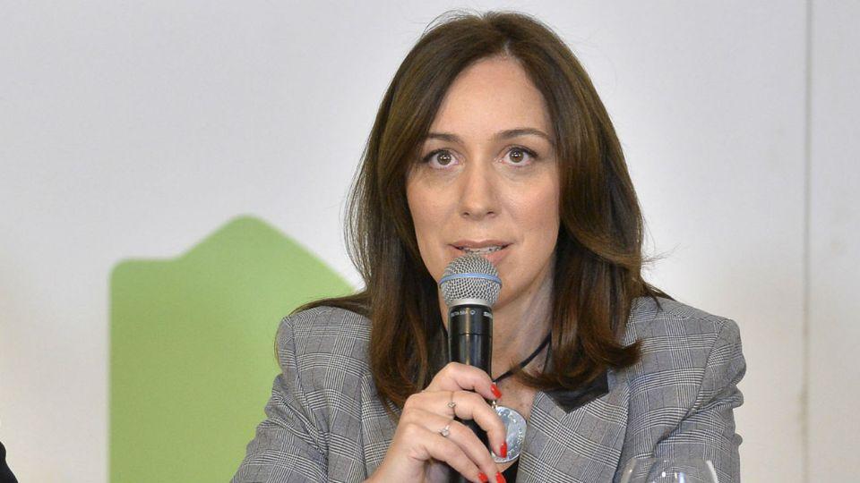 La gobernadora bonaerense María Eugenia Vidal.