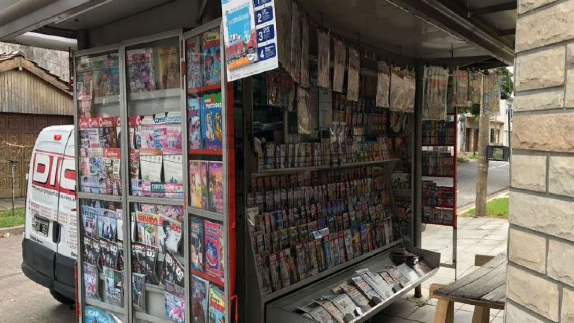 Argentina's iconic kioskos have suffered the impact of plummeting newspaper and magazine sales.