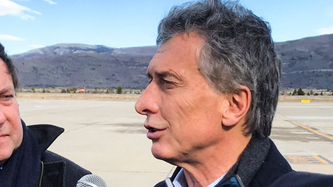President Mauricio Macri, pictured in San Carlos de Bariloche earlier this week.