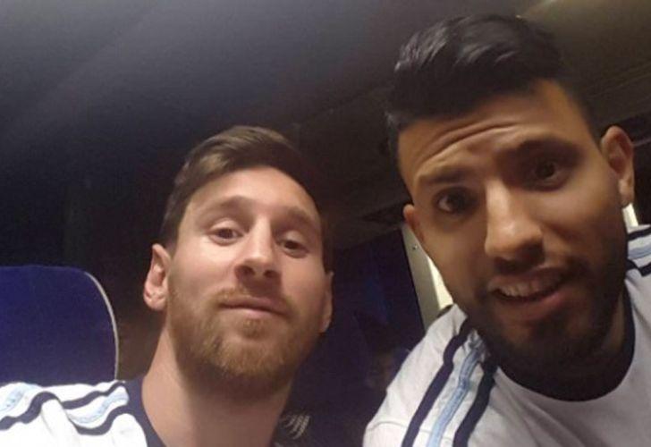 Leonel Messi y AGUERO07202018