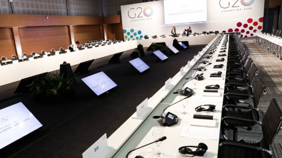 The conclave of G20 ministers in Buenos Aires.