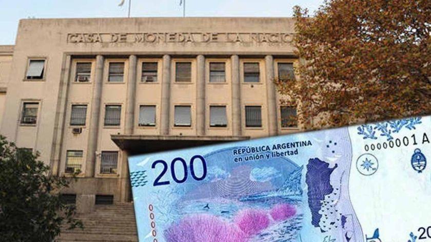 Desaparecieron 145.600 pesos en papel para billetes de $200