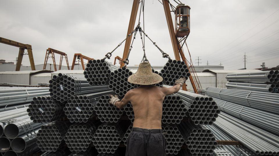 A Shanghai Steel Yard as Metal Markets Prepare for a New World Disorder