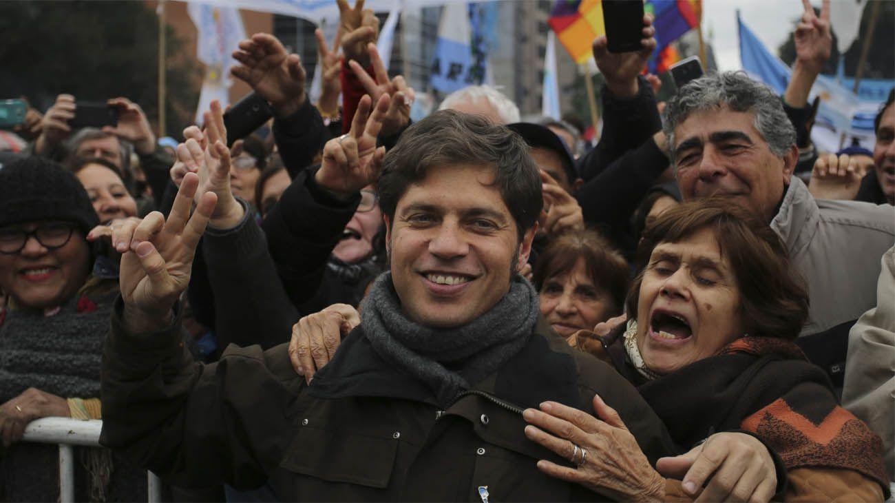Axel Kicillof, en la movilización del 9 de julio contra el FMI