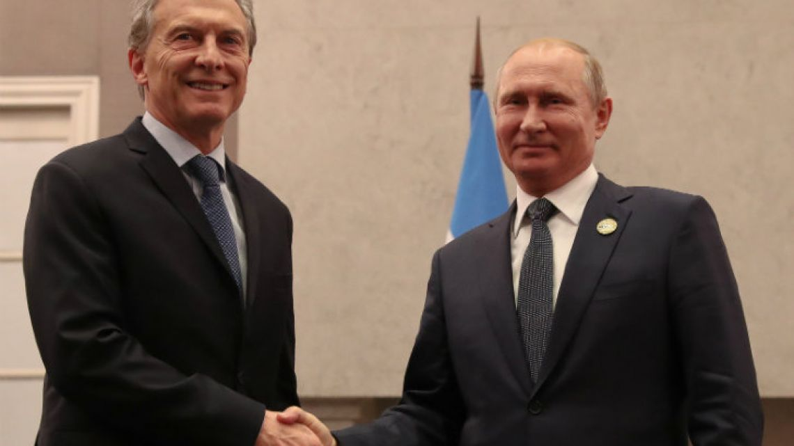 Macri met with Russian President Vladimir Putin in South Africa on Thursday.