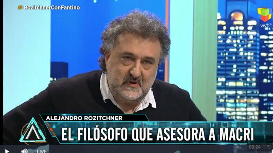 """Alejandro Rozitchner, en """"Animales Sueltos"""" con Fantino."""