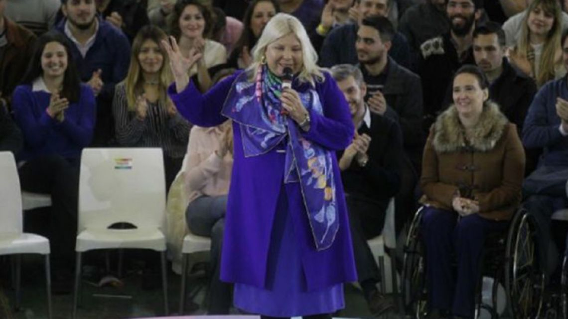 Civic Coalition (CC) national lawmaker for Buenos Aires City, Elisa Carrió.