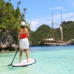 Stand up paddle en Raja Ampat