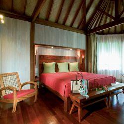 Un Dormitorio del Bora Bora Sofitel Marara Beach_Private Island Luxury Beach Villa