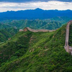 Vista aérea de la Muralla-China Beijing