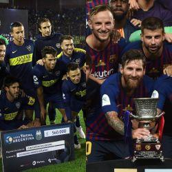 Boca Barcelona formaciones_20180815