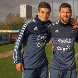 Marinelli con Messi 1