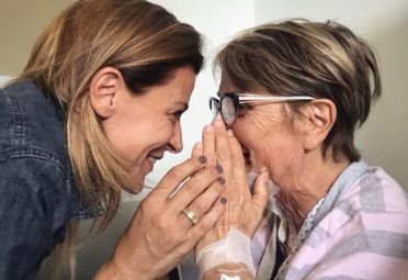 Eugenia Tobal y su mamá