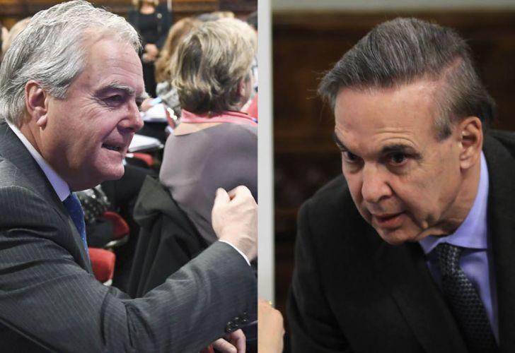 Los senadores Federico Pinedo y Miguel Ángel Pichetto