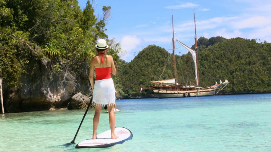 Stand up paddle en Raja Ampat