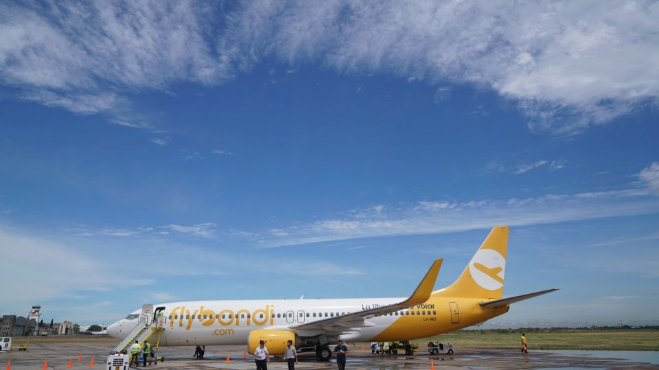 Argentina's First Low-Cost Carrier Flybondi Airlines Arrives At Palomar Airport
