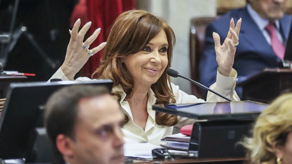Cristina Fernández de Kirchner, actual senadora y ex presidenta.