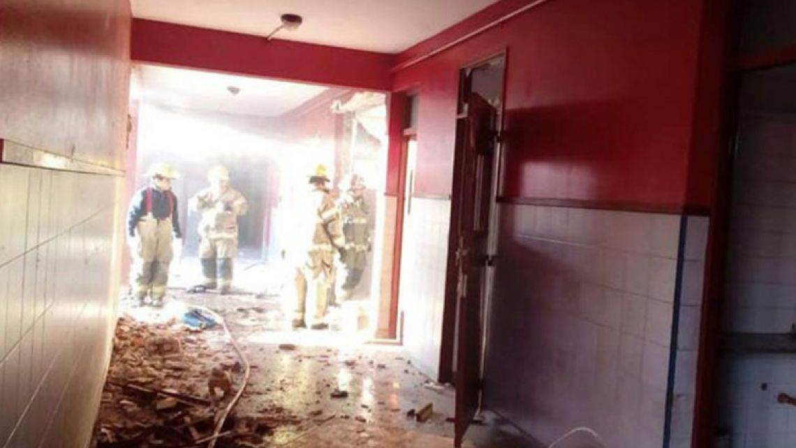 Inside the public school in Moreno where a gas explosion killed the deputy principal and a teacher's assistant.