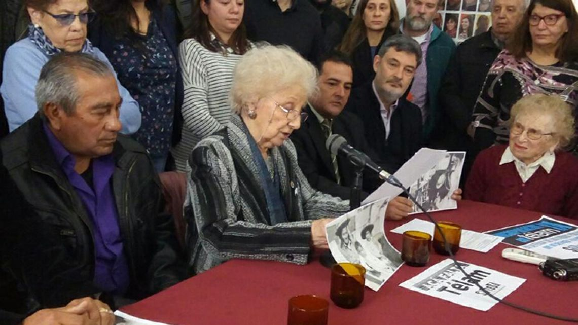 The Grandmothers of Plaza de Mayo announce the identity of grandchild number 128.