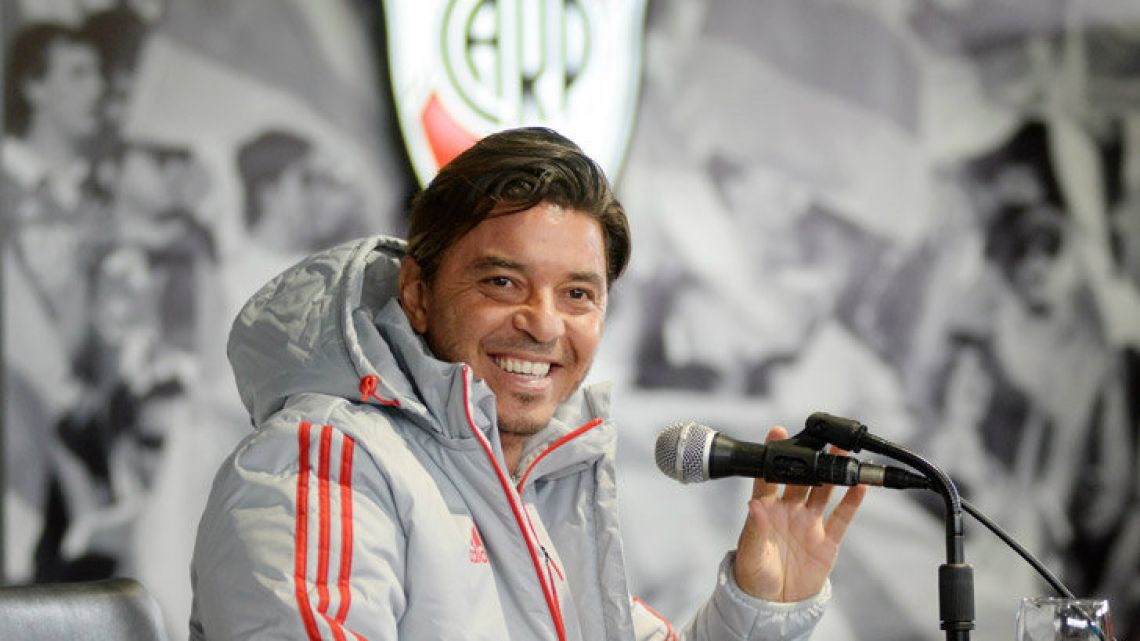 River Plate coach Marcelo Gallardo will be hoping his side can defeat Racing Club in the Copa Libertadores.
