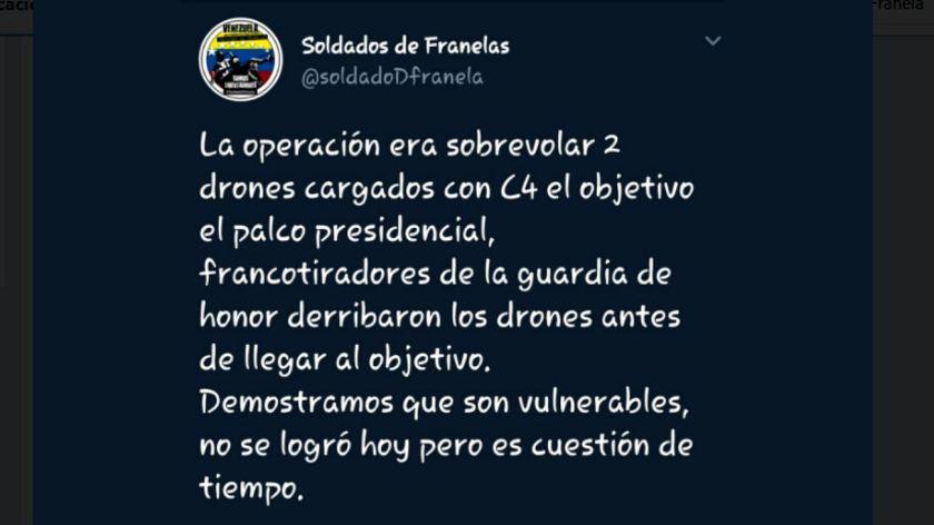 EU se deslinda de ataque a Maduro; insinúa autoatentado