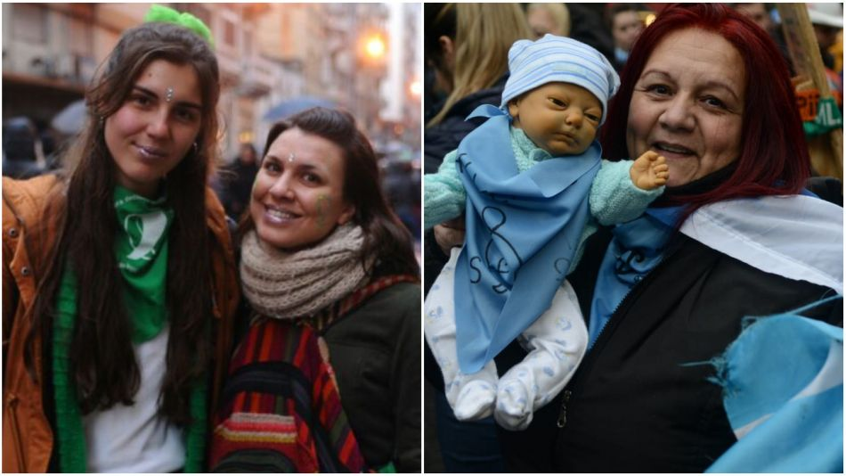 Debate por el aborto. Miles de personas se congregaron en la Plaza del Congreso a la espera de la votación.