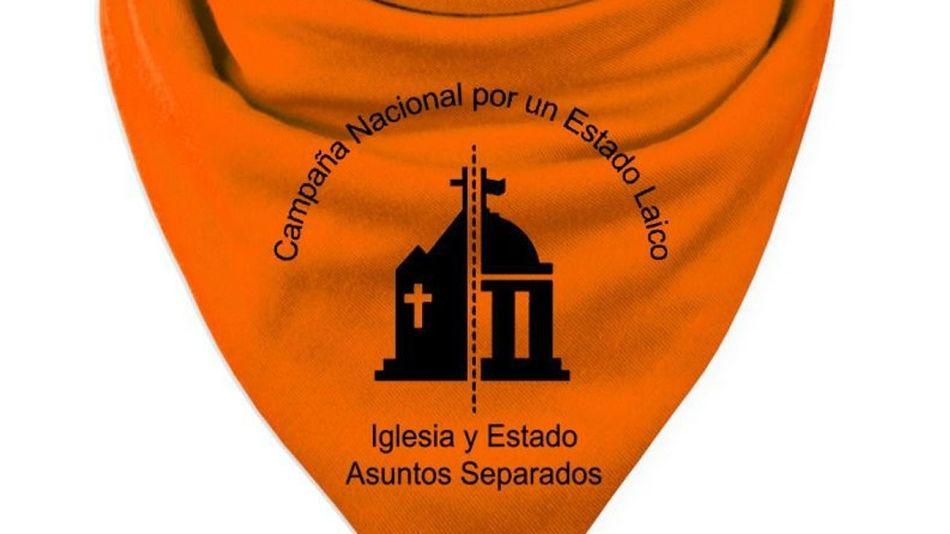 El pañuelo naranja de la Campaña  Federal para la Separación Iglesia/Estado.