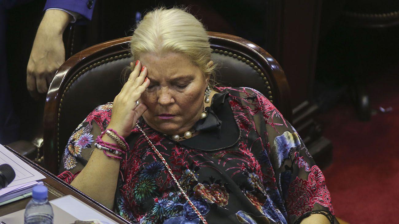 Elisa Carrió no pudo asumir al frente de la comisión bicameral Permanente de Seguimiento y Control del Ministerio Público.
