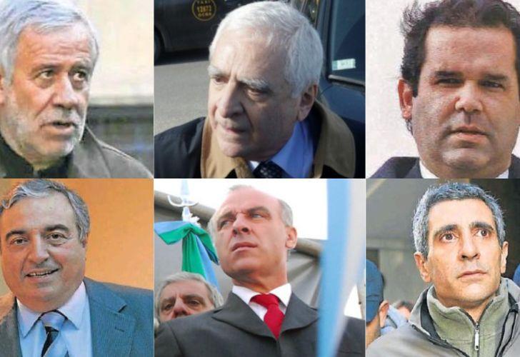 De arriba hacia abajo: Gerardo Ferreyra, Juan Carlos Lascurain, José María Olazagasti, Francisco Valenti, Claudio Uberti y Roberto Baratta.