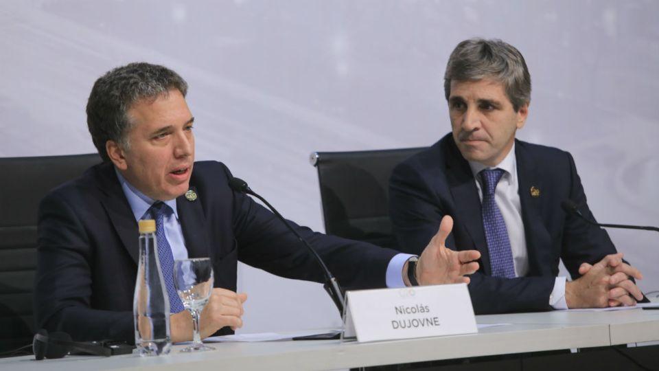 Nicolás Dujovne y Luis Toto Caputo