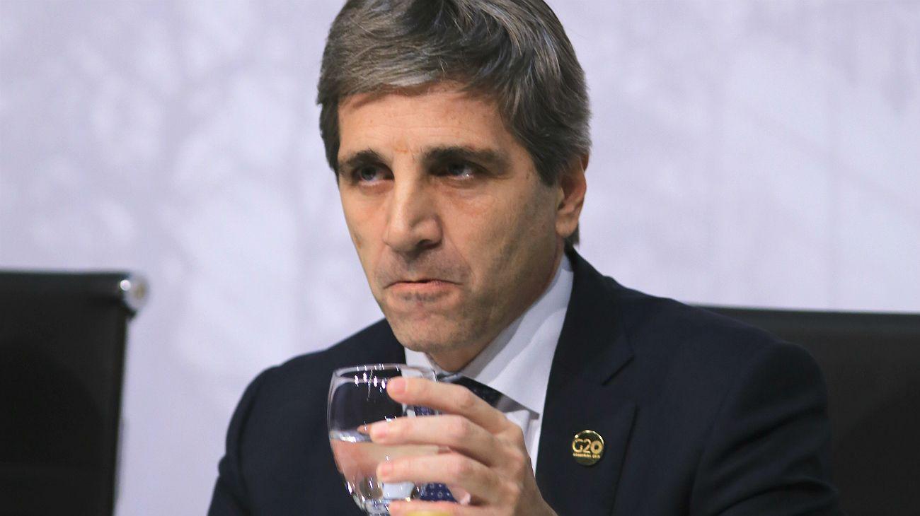 Luis Caputo, titular del Banco Central.