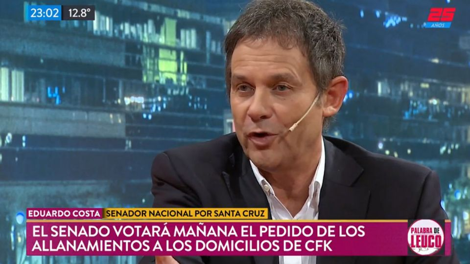 "Eduardo Costa, el senador santacruceño en ""Palabra de Leuco""."