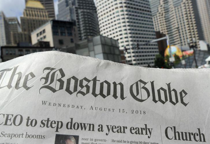 Boston Globe tapa