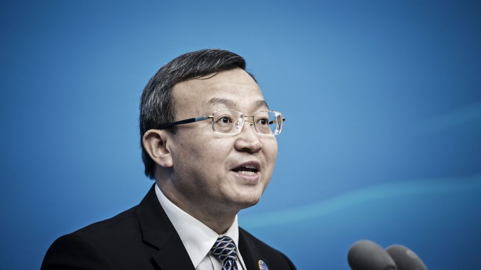 China's Vice Minister Of Commerce Wang Shouwen Speaks At News Conference