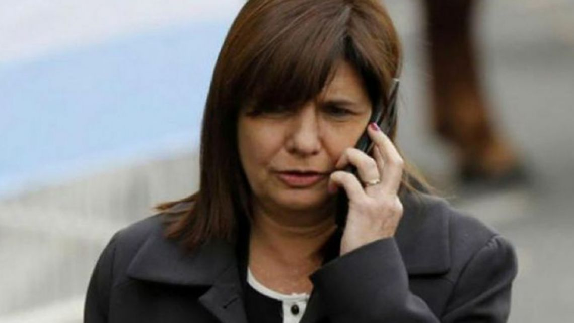 Security Minister Patricia Bullrich.