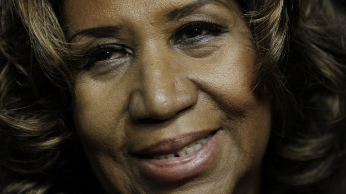 Aretha Franklin seen in February, 2011.