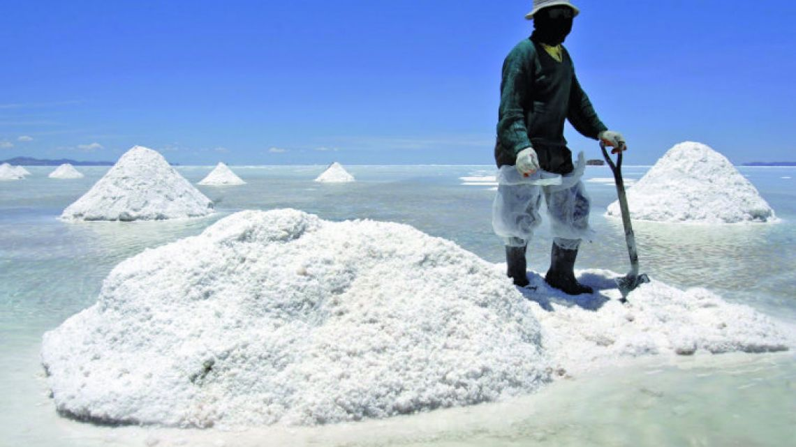Argentina is located in the area known as the Lithium Triangle, shared with Bolivia and Chile.
