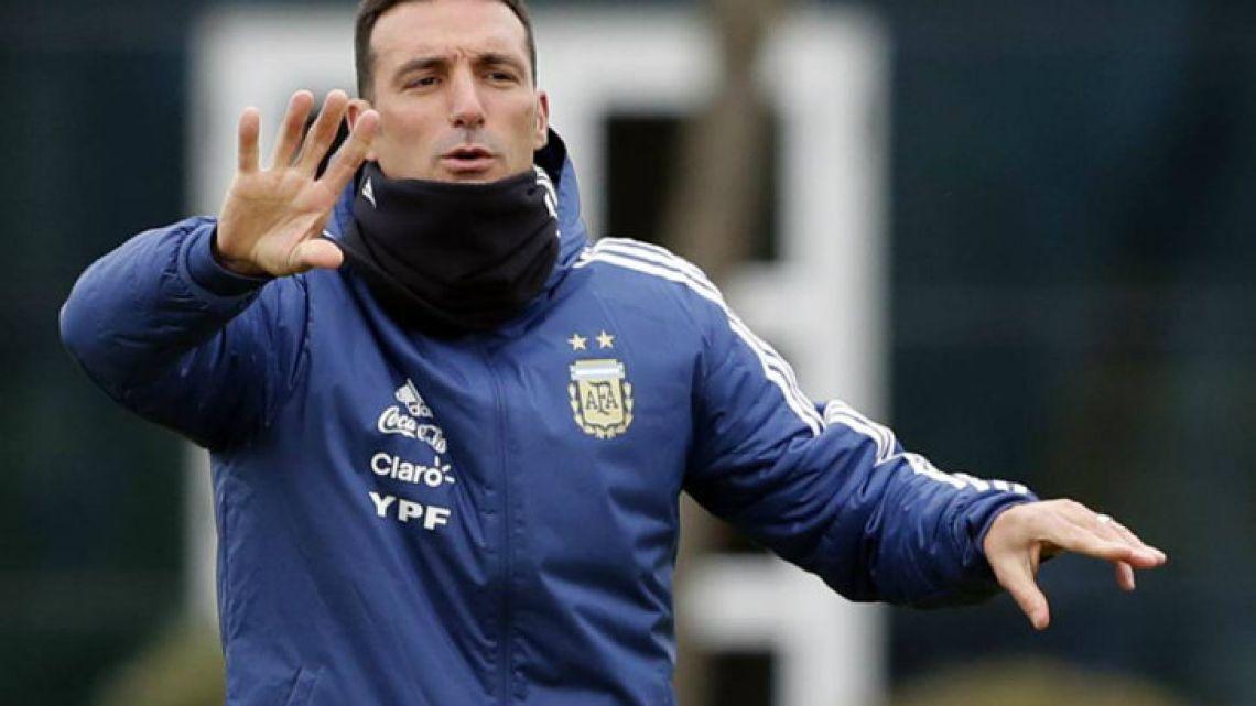 National squad interim coach Lionel Scaloni.