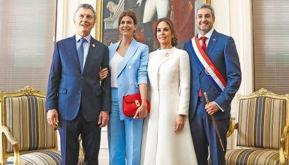 Acto. El presidente de Paraguay asumió el miércoles. Macri y Awada estuvieron presentes.