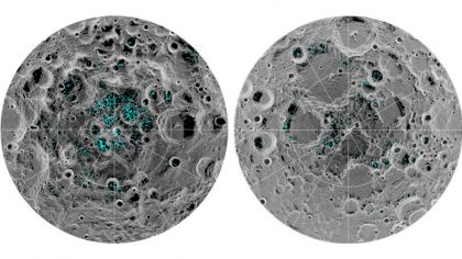 hielo en la luna