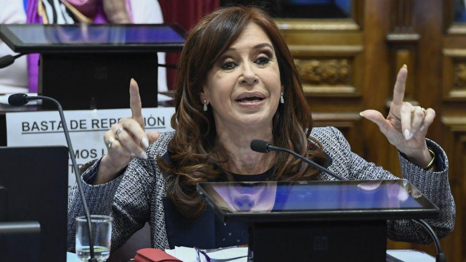 Cristina Kirchner debate allanamientos senado