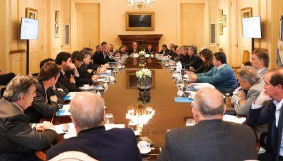 El presidente Mauricio Macri encabezó esta mañana una nueva reunión del Gabinete nacional en la Casa Rosada.